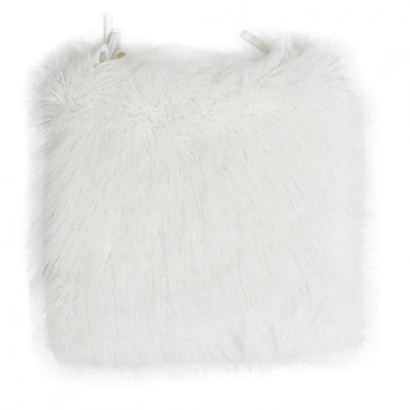 White Fur Cushion (Head Table Chair)