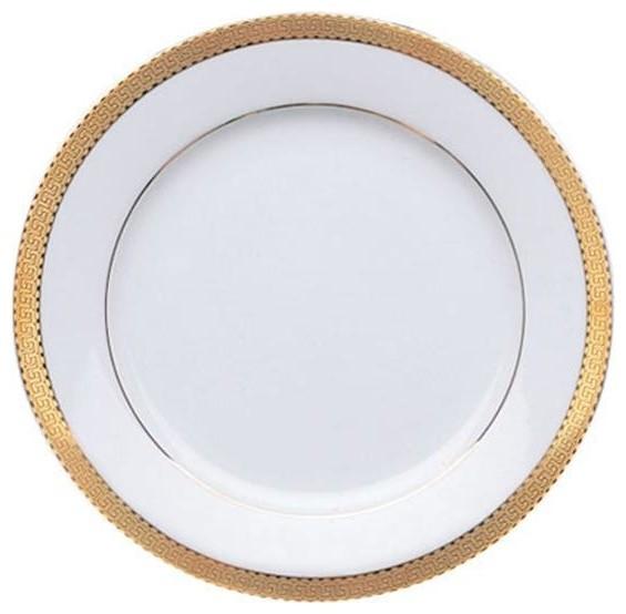 """Luxor Gold Rim Plates 10"""""""