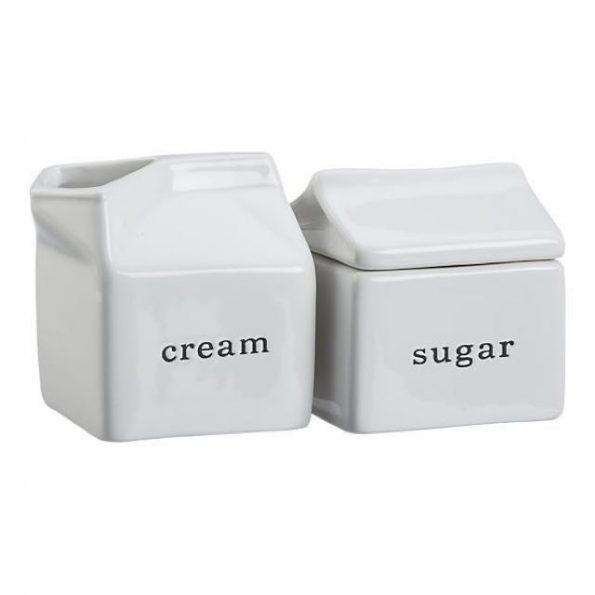 Cream and Sugar - Stoneware Milk Box