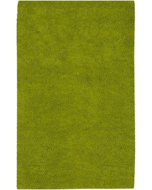 Plush Rug Olive Green 5'x8'