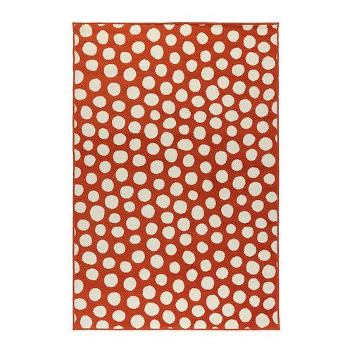 Orange Polkadot Rug