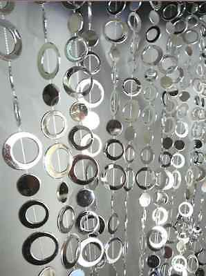 Silver Shimmy Round Beads Entrace Curtain