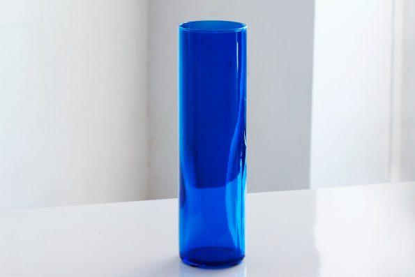 """10"""" Cobalt Blue Cylinder Candle Holder"""