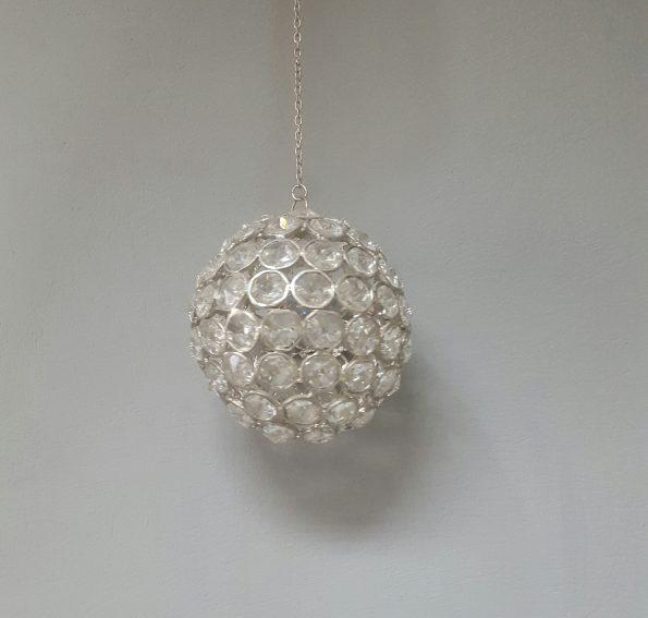 Crystal Hanging Silver Balls [Ex.Small]