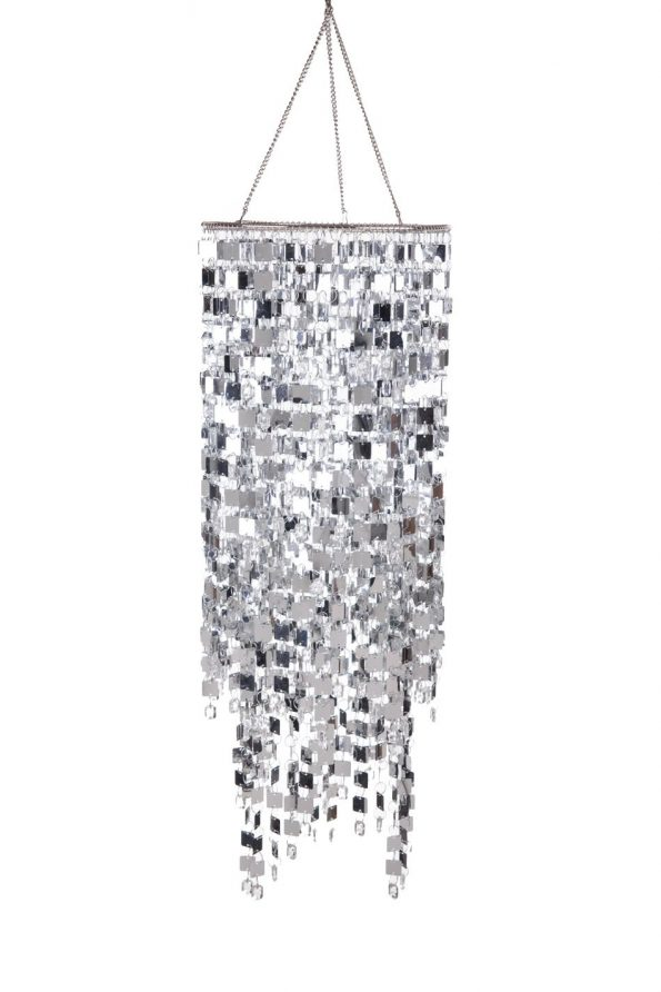 Shimmy Square Silver Hanging Light