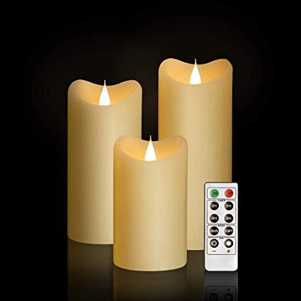 Led Ivory Flameless Candles 3x5.5''